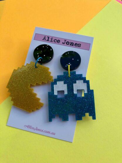 Pac-man Dangly Earrings