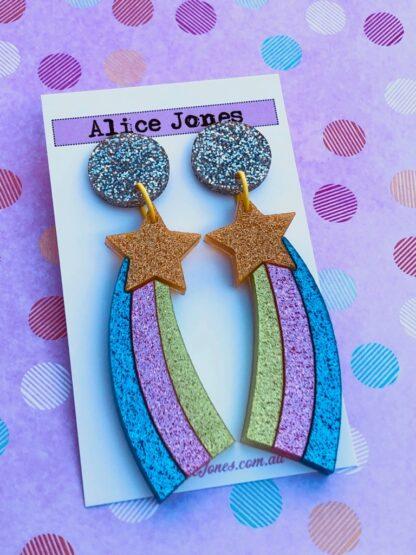 Shooting Star Dangly Earrings