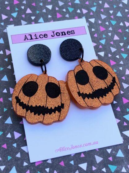 Halloween Pumpkin Dangly Earrings