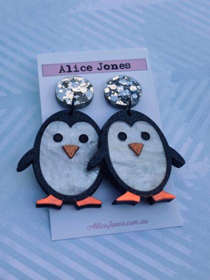 Cute Penguin Dangly Earrings