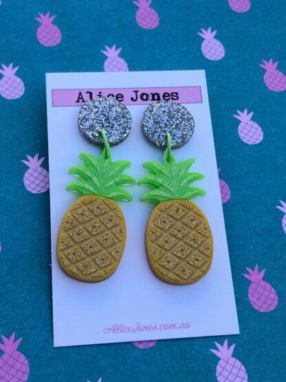 Pineapple Dangly Earrings